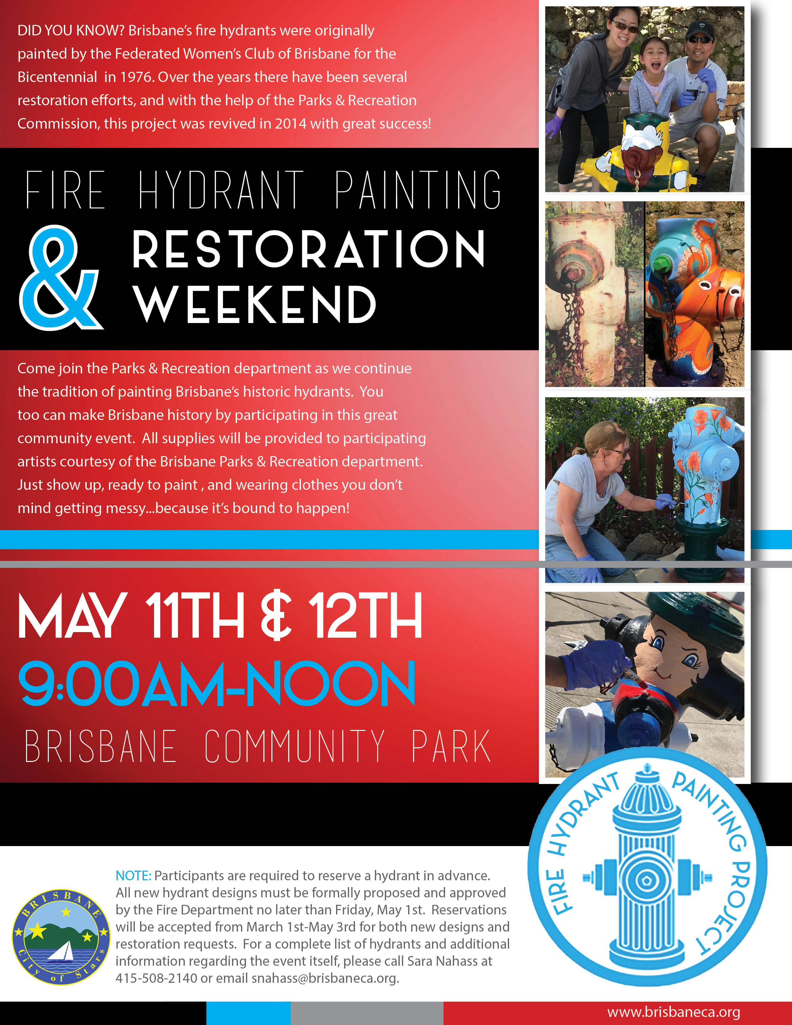 Fire Hydrant Restoration Event Flyer