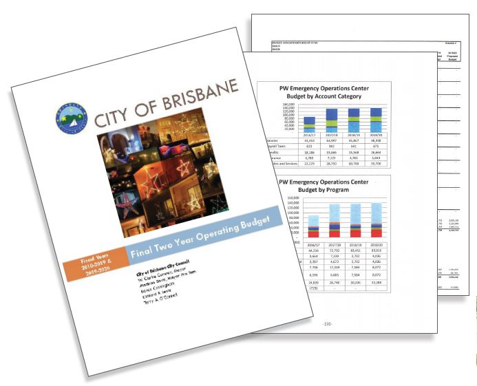 City budget pages