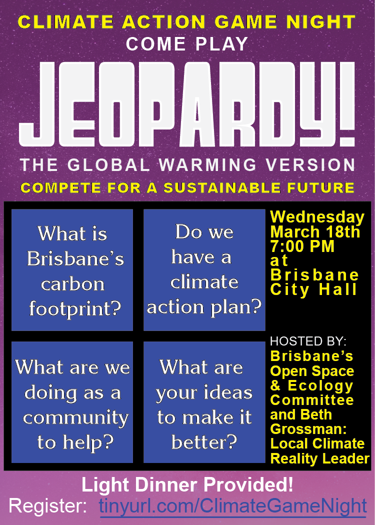 Come Play Jeopardy! The Global Warming Version