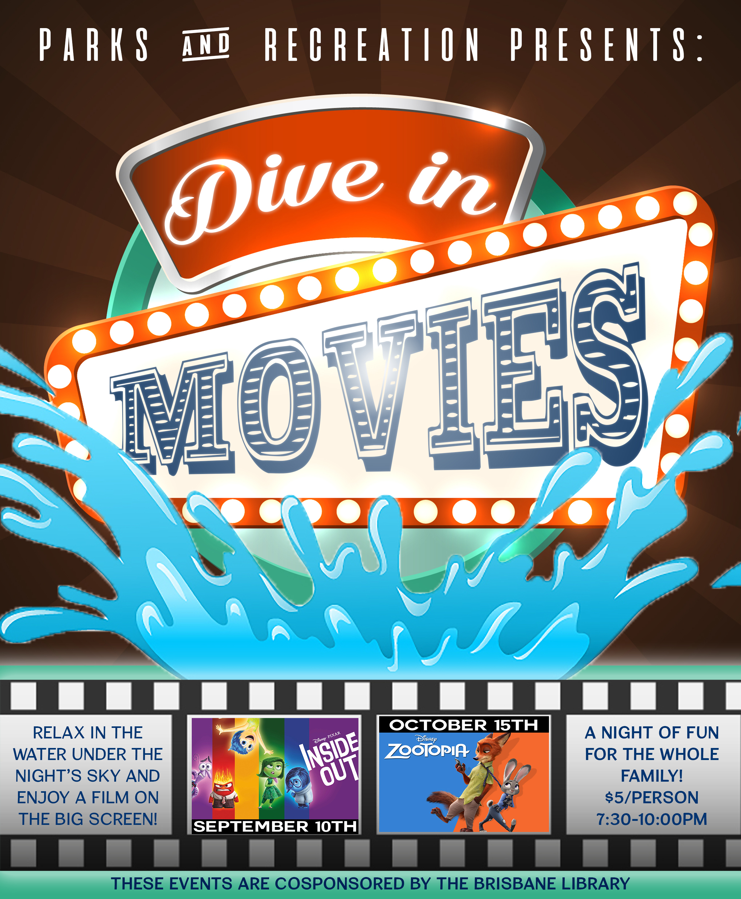 Dive In Movie At The Pool City Of Brisbane