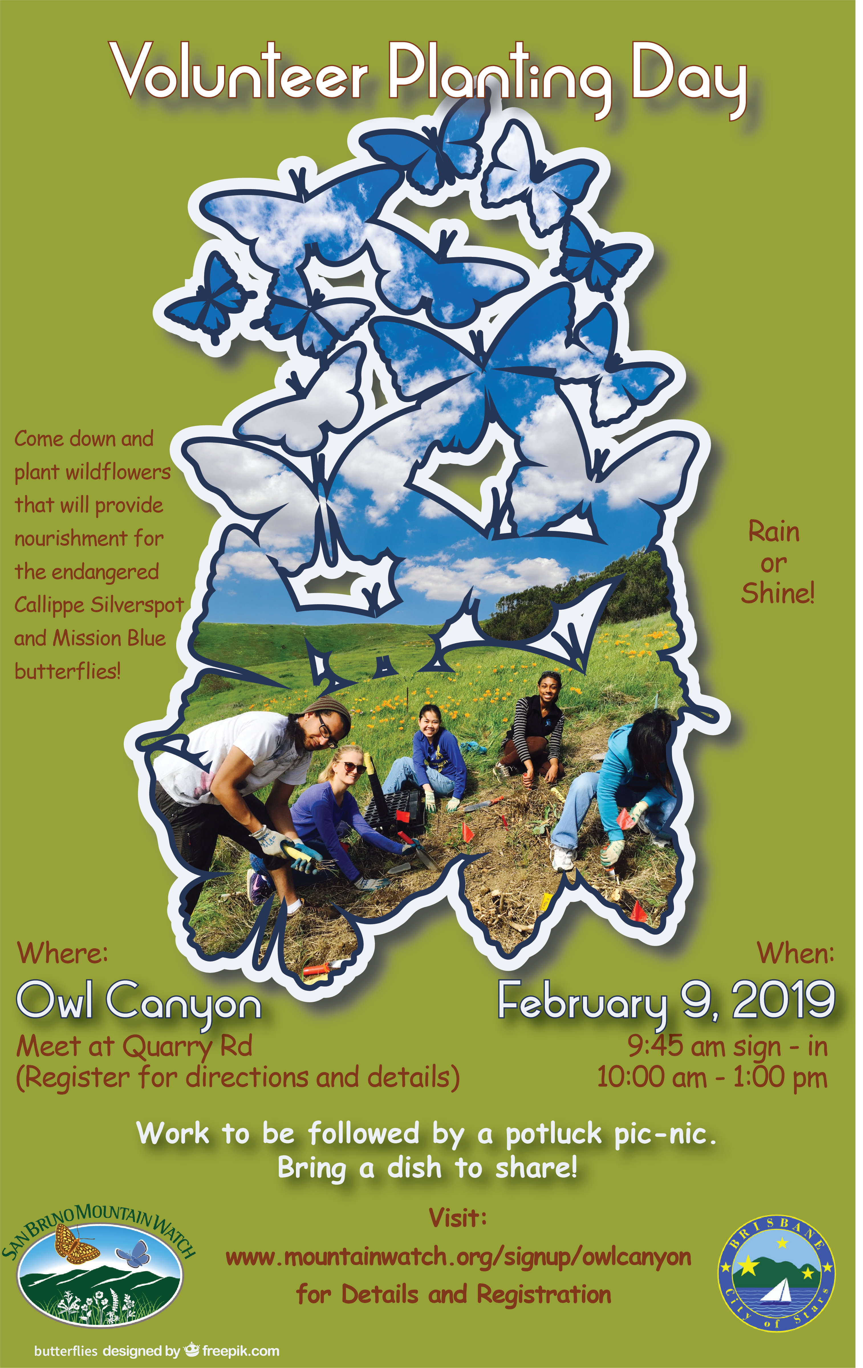 Volunteer Planting Day promotional flyer
