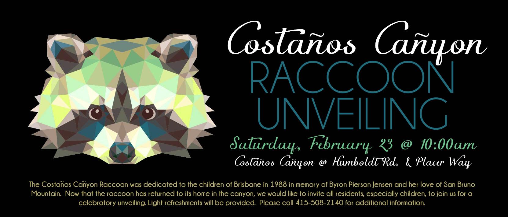 raccoon unveiling
