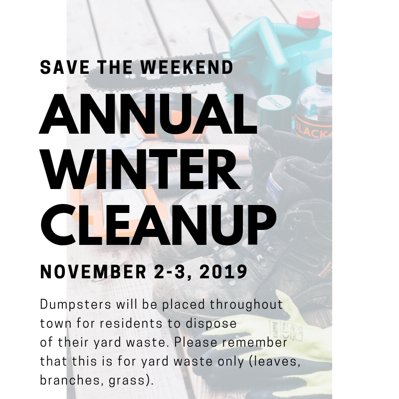 annual winter clean up