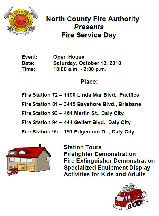 Fire Service Day 2018 flyer